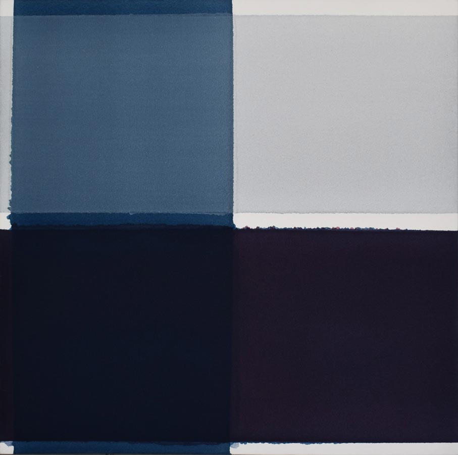 Inside outside nr. 22, 2020, 60x60-cm, acryl, pigment op katoen